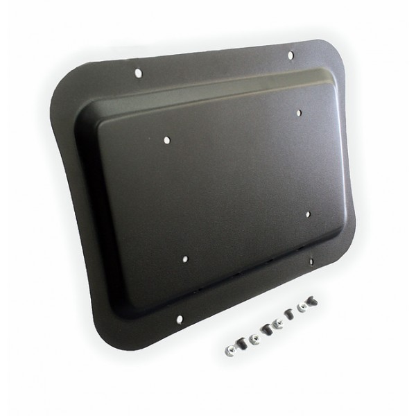 Full Metal Fabworks Solution Plate Black Powdercoated